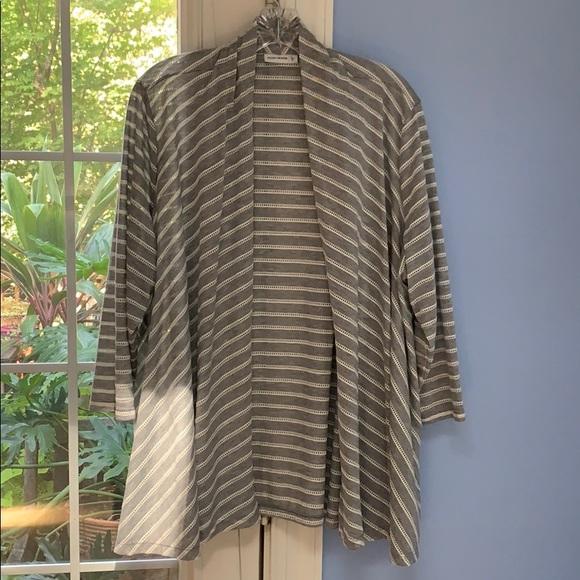 Susan Graver Jackets & Blazers - Susan Graver grey white stripe jacket xl $15
